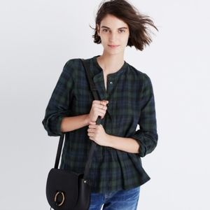 Madewell | Plaid Market Popover Top